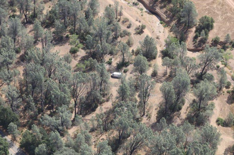 Stolen van as seen from the air.