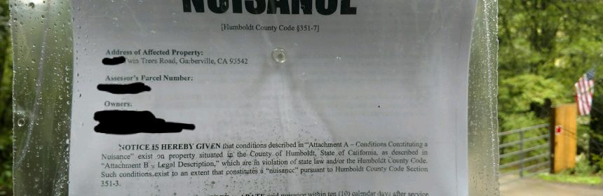 Cannabis abatement letter Humboldt County