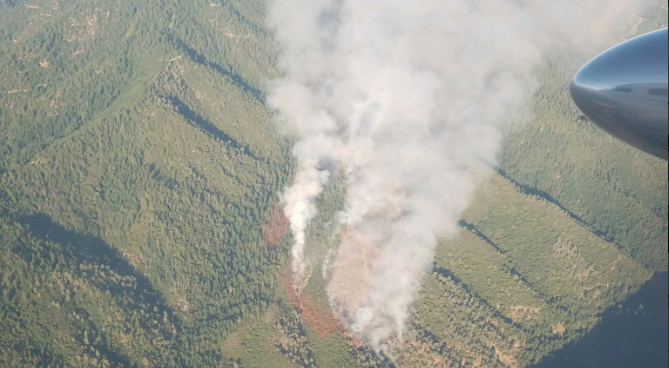 Flat Fire as seen from an airplane