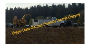 Chipper Chaps Charging CHeerfully towards chopping convoy chipper