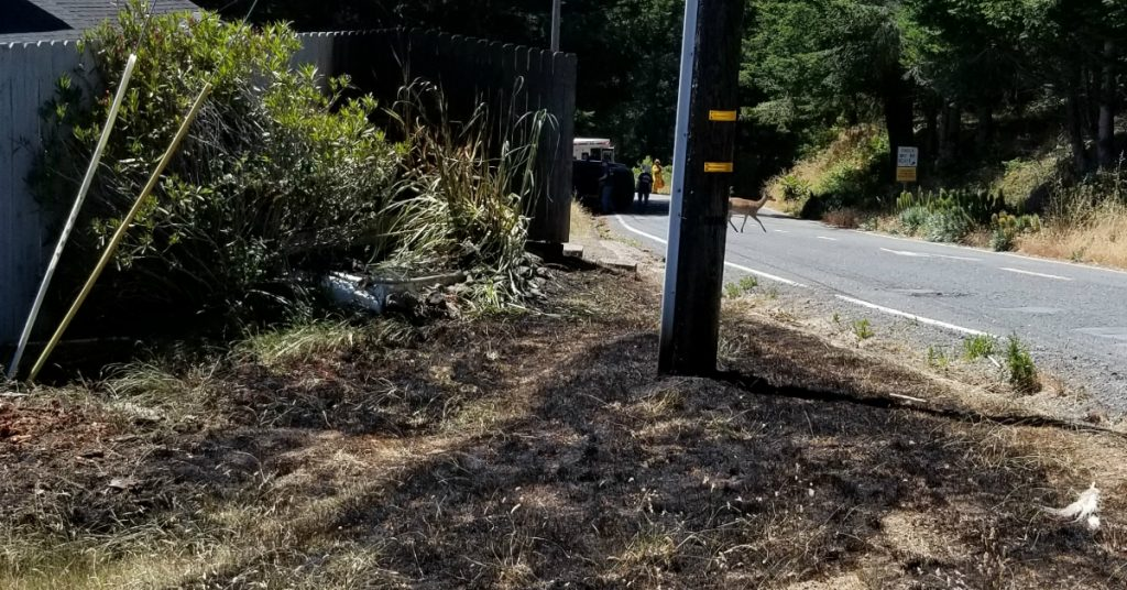 traffic collision [Photo by Shelter Cove Fire]