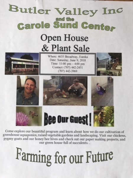 Carol Sund center is having an open house and plant sale this Saturday.