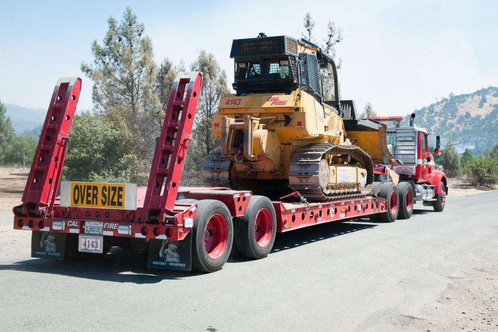 Cal Fire bulldozer