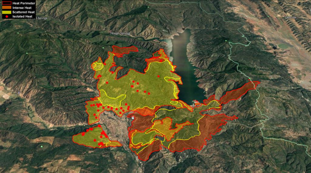 Heat map screen grab Pawnee Fire June 26, 2018
