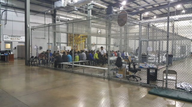 Photos provided by Custom and Border Protection to reporter on tour of Ursala detention facility in McAllen, Texas.