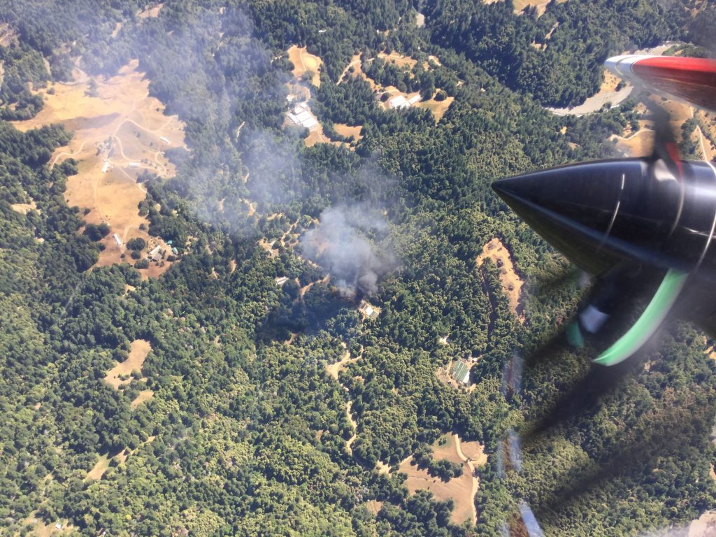 Cal Fire plane captured this photo of the fire.
