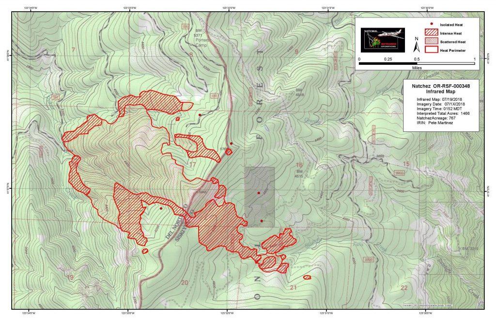The Natchez Fire map