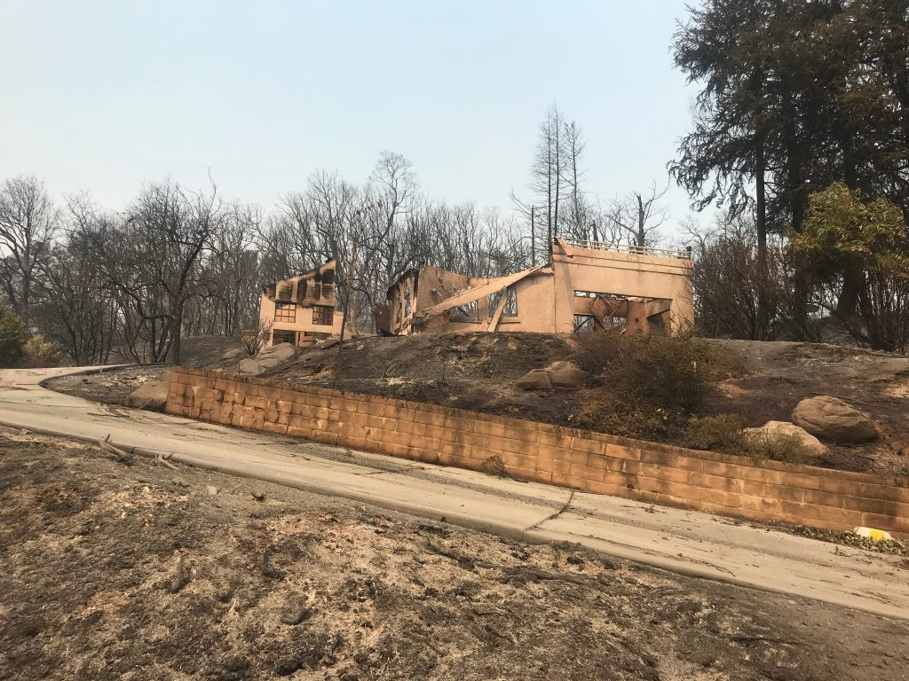 A burned home in the Redding area.