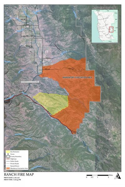 UPDATE 12 a m : PG&E Says 50,000 Out in Mendocino County
