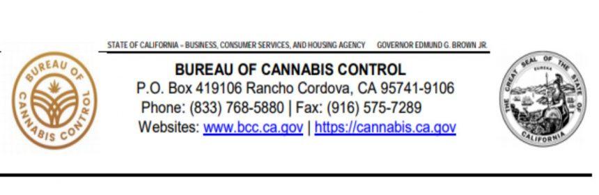 California Bureau of Cannabis control