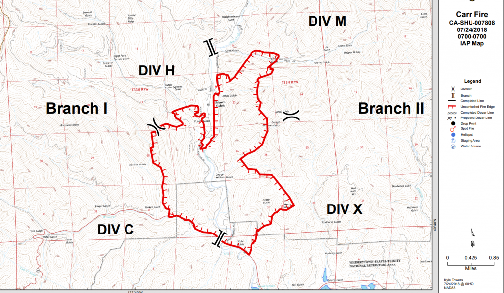 Update 9 17 P M Carr Fire Map Detour For 299 Closure Etc