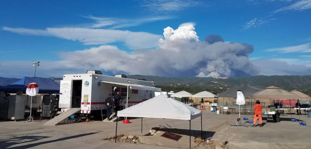 Mendocino Complex pyrocumulous cloud