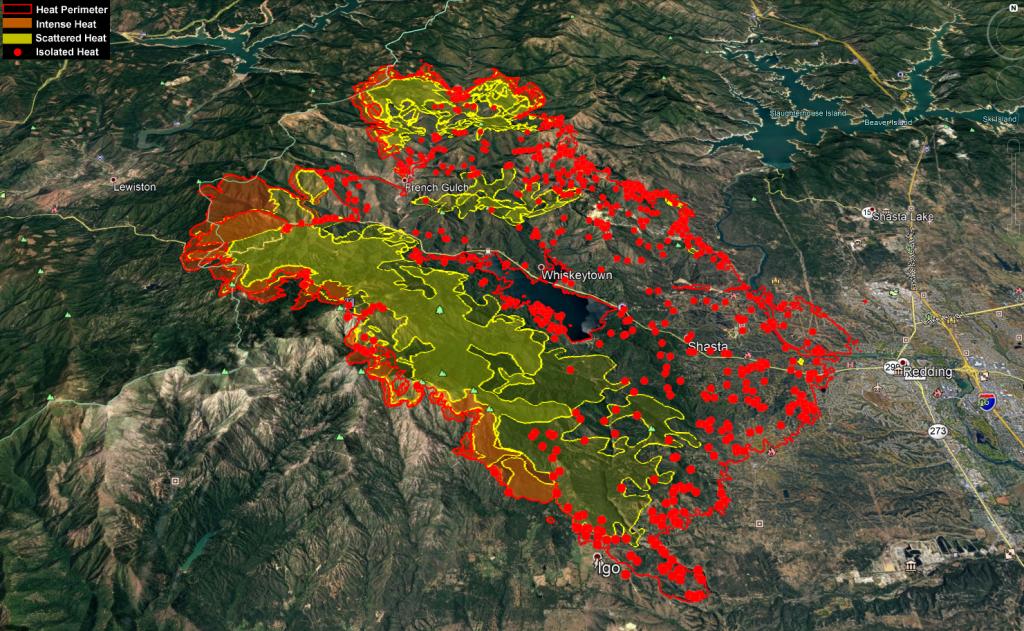Carr fire map