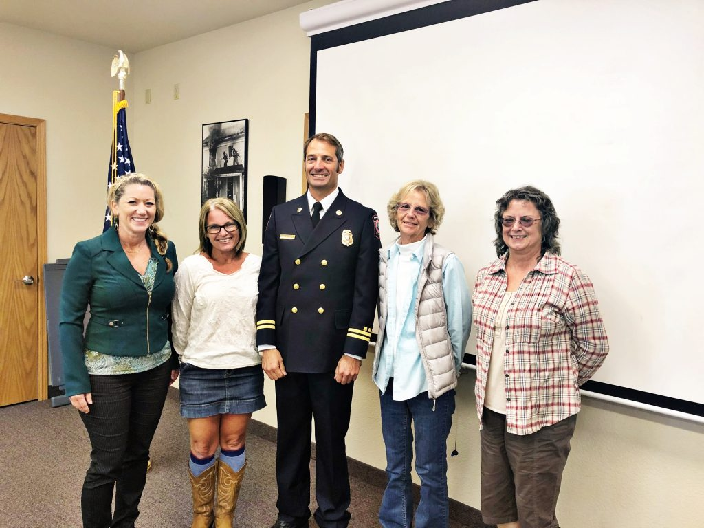 Chief Robertson with Humboldt Bay Fire's Board of Directors.