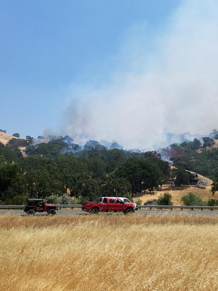 The Ranch Fire burning