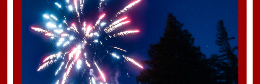 Fireworks in the REdwoods