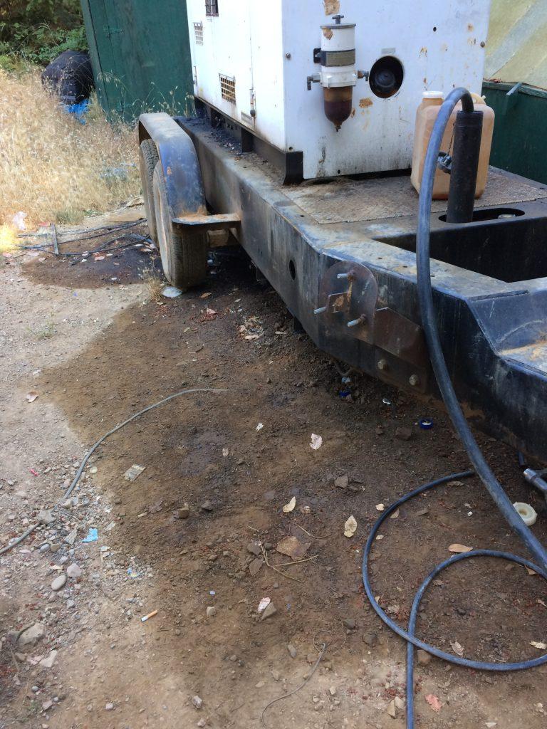 leaking generator marijuana diesel