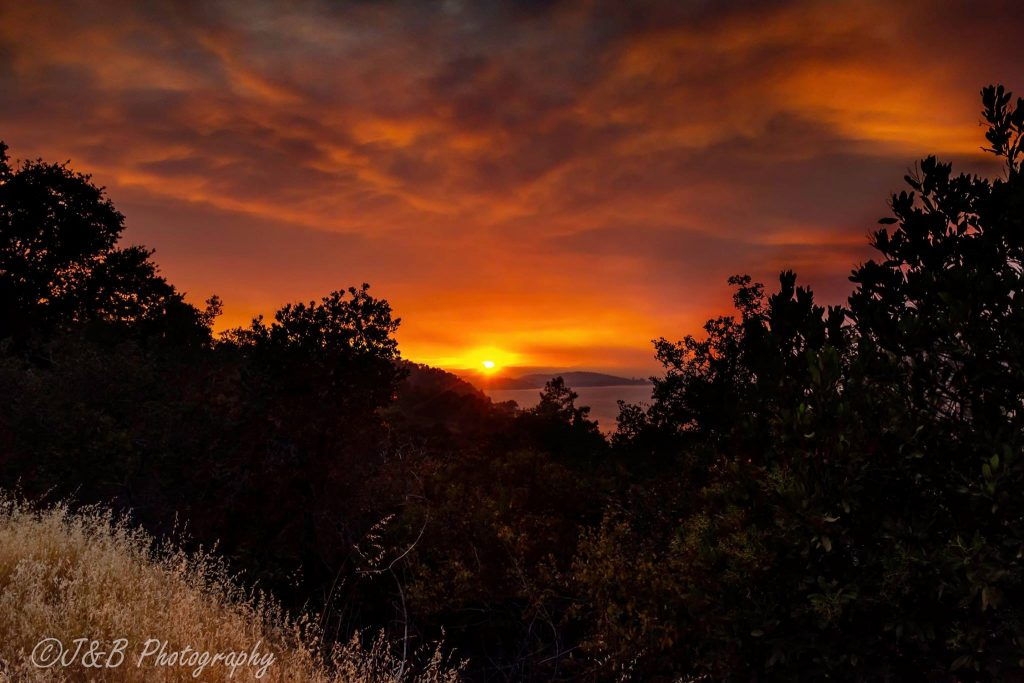 Sunset on the Mendocino Complex July 30
