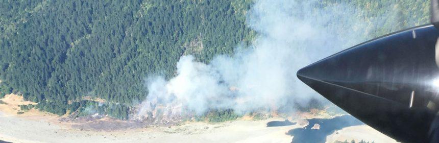 Johnson Fire near Pecwan day 1