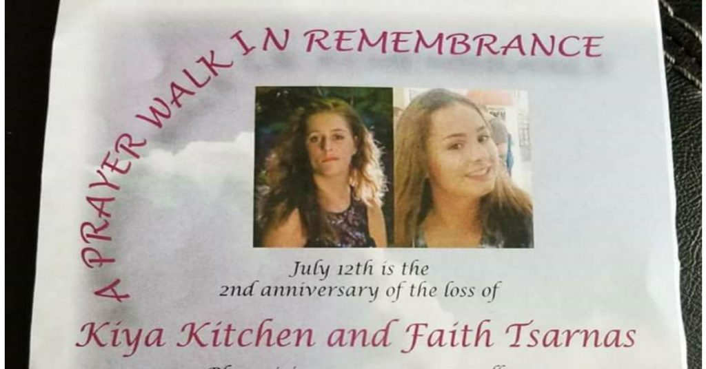 Kiya Kitchen and Faith Tsarnas prayer walk poster