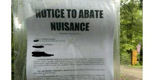 Notice to Abate
