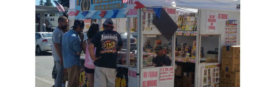 A petition is being offered along with fireworks at Garberville Veterans of Foreign Wars post 6354 firework stand.