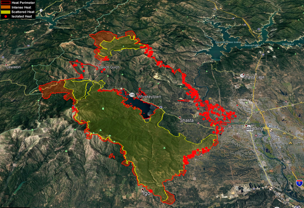 The KMZ Carr Fire Map