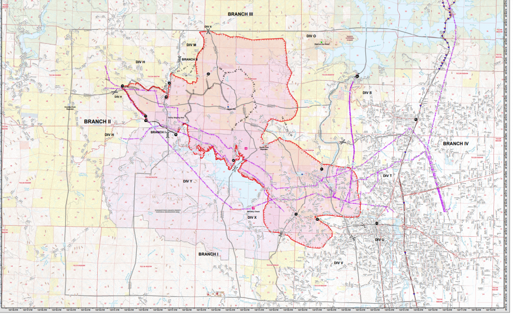operations Map Carr Fire