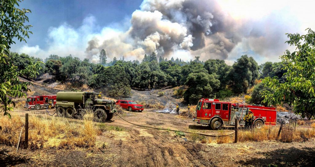 Crews on the Mendocino Complex August 4.