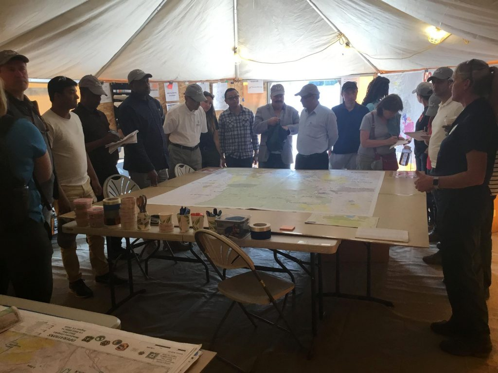 Twenty-three foreign officials visited the Mendocino Complex Incident Command Post in Ukiah on Sat. 8-18 as part of the USFS International Assistance Program.