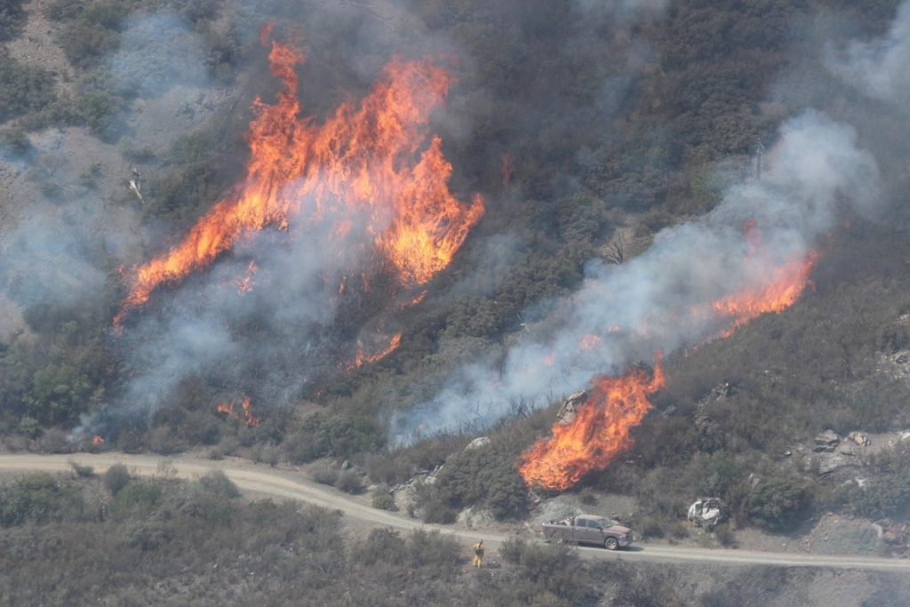 Burn Operations Around Black Diamond Ridge