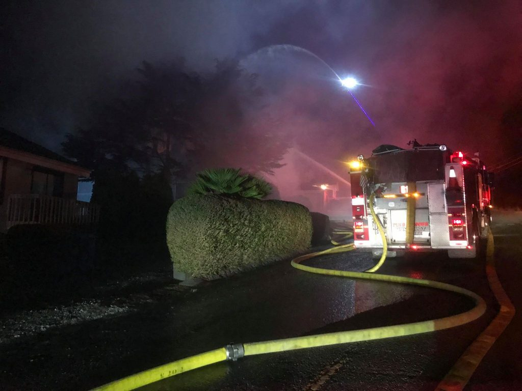 Fire on Loma Avenue last night.