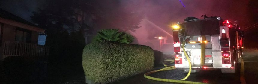Fire on Loma Avenue last night.