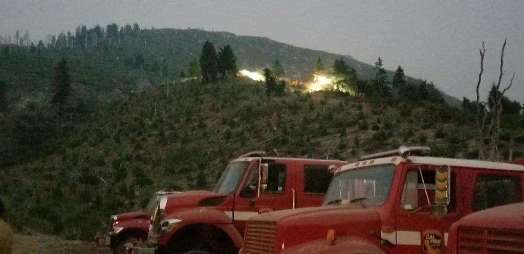 Fire trucks on the Carr Fire.