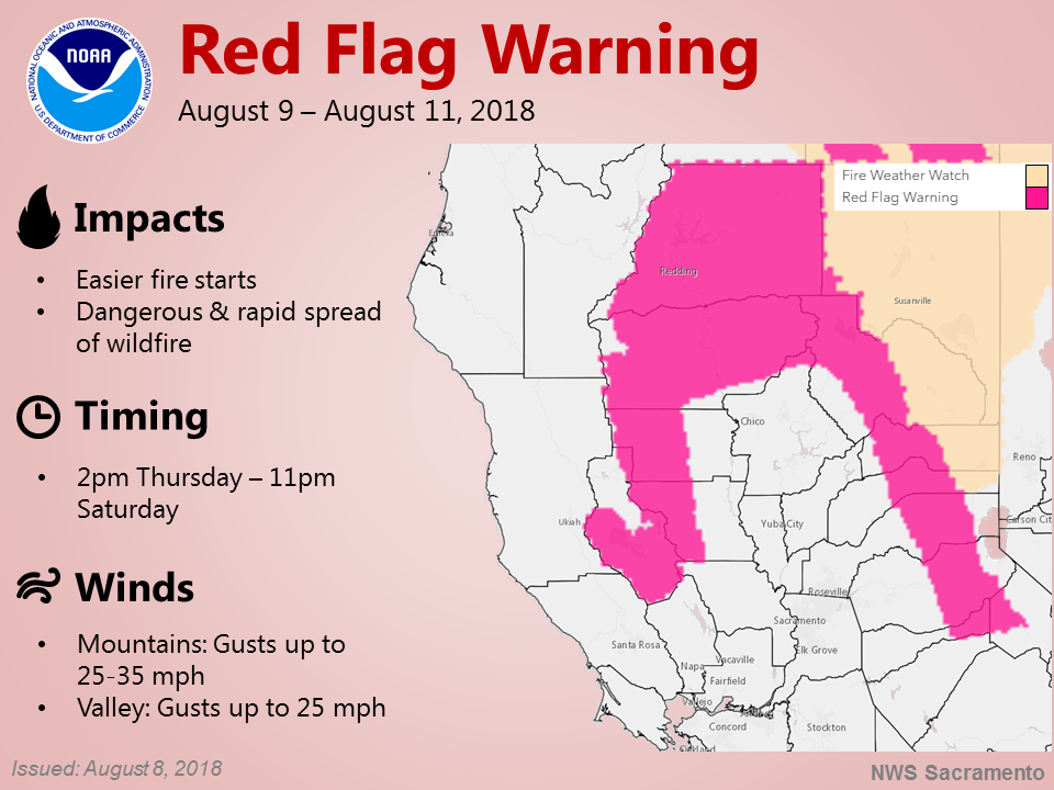Graphic from the National Weather Service in Sacramento.