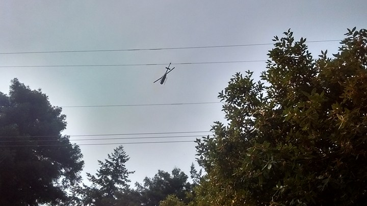 Helicopter flying low in Southern Humboldt this morning.