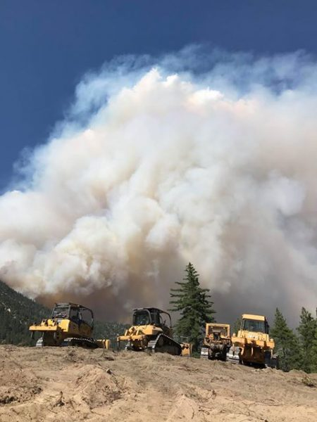 A cloud of smoke from the Carr Fire confronted dozer drivers last Saturday afternoon.