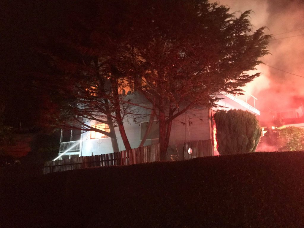 Structure fire on Lorna Avenue.