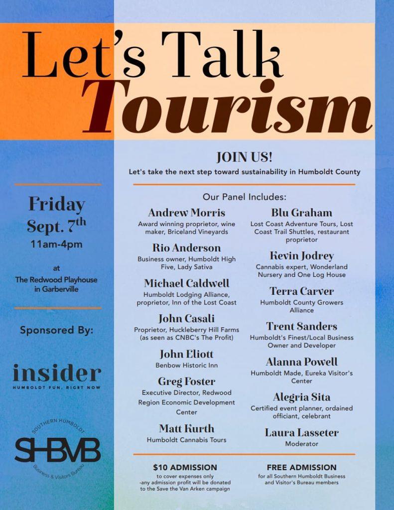 LEt's talk tourism poster