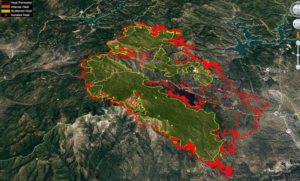 Carr Fire Heat Map