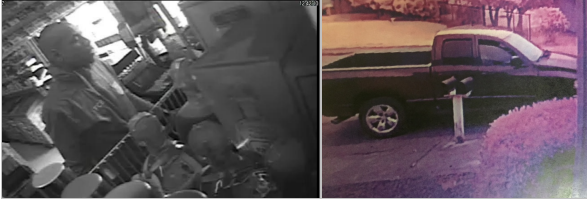 armed robber and vehicle