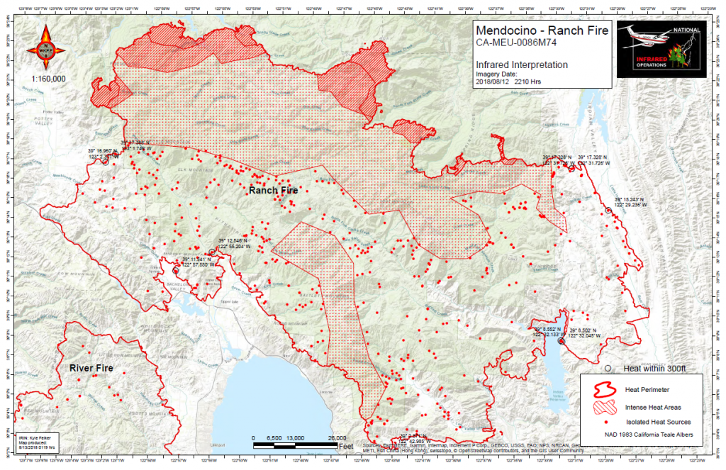 Mendocino Complex Infrared interpretation map