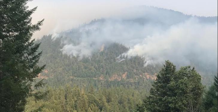 Mill Creek Fire [Photo taken August 23 by a reader]