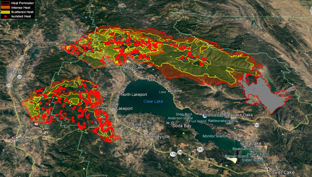Mendocino Complex Heat Map