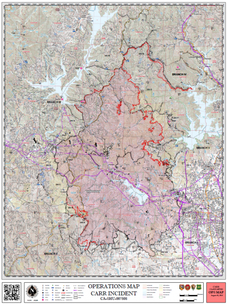 Carr Fire Operations August 10