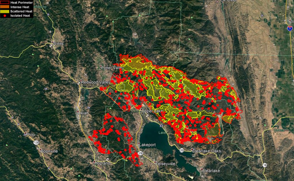 Mendocino Complex Heat Map