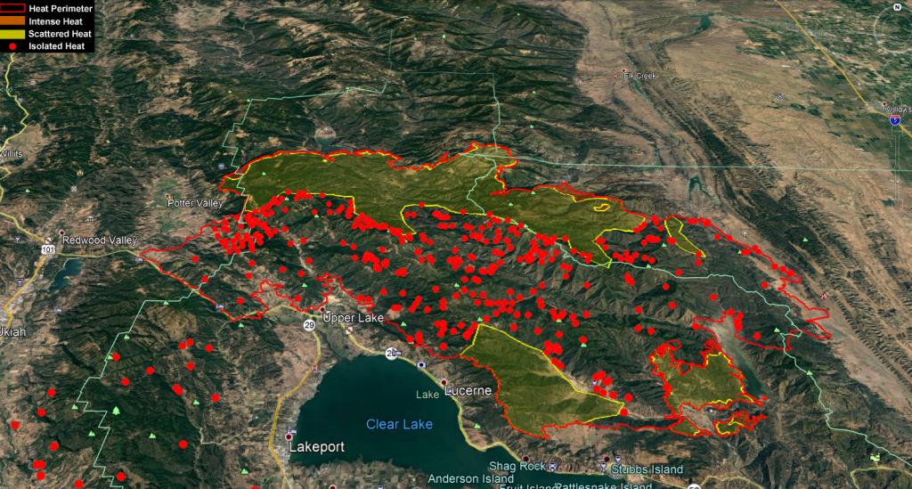 Mendocino Complex Infrared map