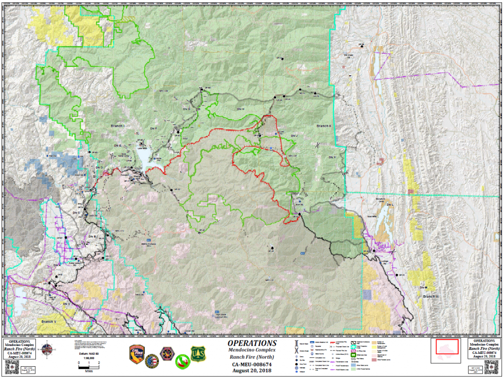 Mendocino Complex Operations Map for August 19.
