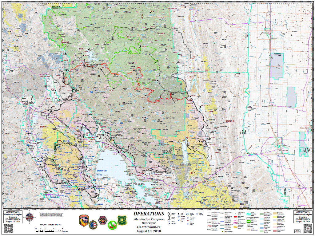 Mendocino Complex Operations Map