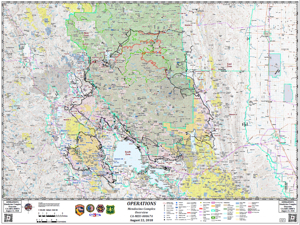 Mendocino Complex Operations Map for August 22